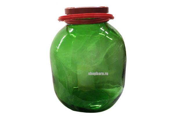 Банка 7.5 л с крышкой ТО110 (Зеленая)